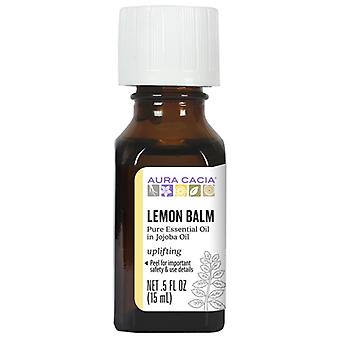 Aura Cacia Essential Oil Lemon Balm in Jojoba Oil, .5 OZ