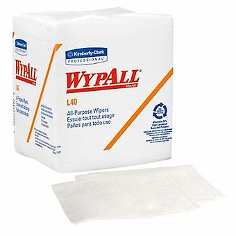 Kimberly Clark Task Wipe WypAll L40 Light Duty White NonSterile Double Re-Creped 12 X 12-1/2 Inch Disposable, White 56 Count