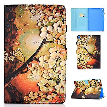 Case For Ipad 9 10.2 2021 Cover With Auto Sleep/wake Pattern Magnetic - Flower Tree