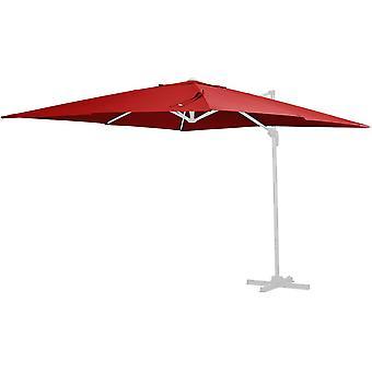 Tissu de rechange pour parasol «Sun 3» - 3 x 3 m - Rouge