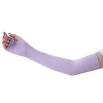 Outdoor sports cycling camping sun protection sleeves, arm protection sleeves(Purple)