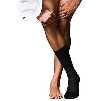 Les plus beaux Merino Falke No6 et chaussettes en soie - noir