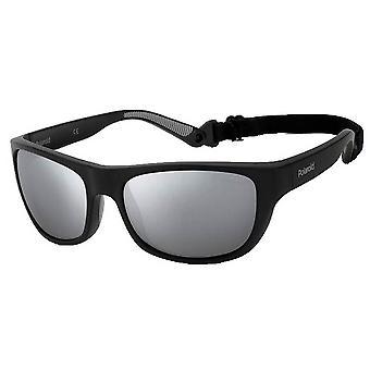 Polaroid Square Sports Strap Sunglasses - Black/Silver