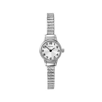 Sekonda 4472 Wit En Zilver Dames Expander Horloge