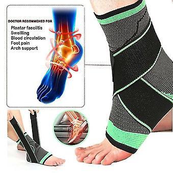 (L) Supporto alla caviglia infuso di rame Compressione Calzino Fasciitis Planter Sollievo dal dolore