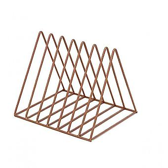 Wrought Iron Golden Triangle Newspaper Rack(Copper)