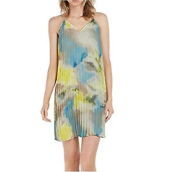 Bar III Womens Printed Pleated Party Dress
