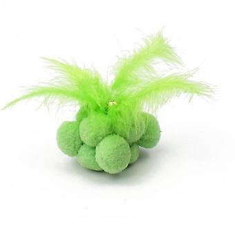 Kissa lelu sulka pehkuinen kello karkki väri hauska kissa pallo purenta kestävä (vihreä)
