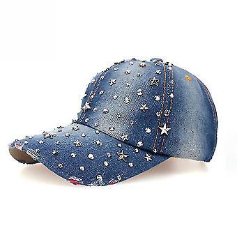 Crystal Star Denim Baseball Cap