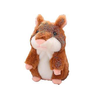 6 '' Kinder Plüsch Hamster Spielzeug Wiederholungen Sprechen Interaktive Puppen (Braun)