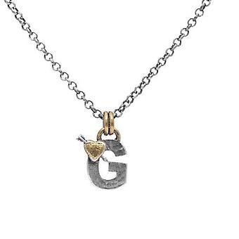 Bokstav G Inledande hänge Halsband