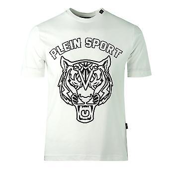 Philipp Plein Sport Tiger Head Logo White T-Shirt