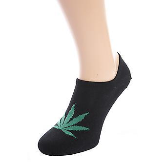 Hemp Leaf Pattern Low Cut Socks