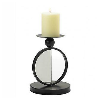 galleri av lys halvsirkel speilet stearinlys holder - enkelt, pakke med 1