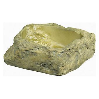 "Exo-Terra Granite Rock Reptile Water Dish - Small - 3.75""L x 3""W x 1.25""H"