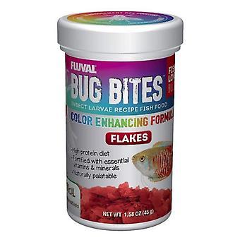 Fluval Bug Bites Larvy hmyzu Barva zvyšující rybí vločky - 1,59 oz