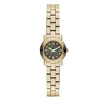 Marc By Marc Jacobs Amy Black Women's Gold Classic Horloge MBM3275