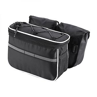 Multi-function Frame Top Tube Bag With Rain Cover For Road Bike