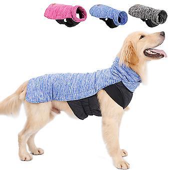 Dog Clothes. Dog Vest. Dog Jacket. Dog Coat. Waterproof, Warm And Padded Jacket. Dog Cotton Clothes. (blue, X-large)