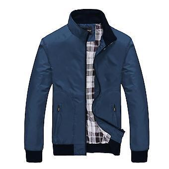 Nieuwe Lente En Herfst Men's Jacket Loose Casual Stand-up Collar Jacket Young Men's Jacket