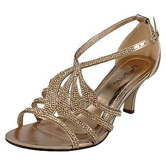 Las señoras Anne Michelle mediados F10580 de sandalias de tacón Diamante