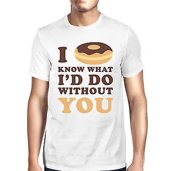 Jag munk vet mäns vit kort ärm rund hals T-Shirt för män