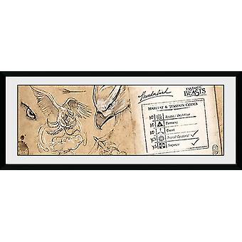 Fantastic Beasts Thunderbird Framed Collector Print