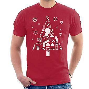 Christmas Tree Sherlock Holmes Men's T-Shirt