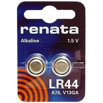 Renata Button Cell Battery LR44 - Pack of 10 (A76 V13GA)