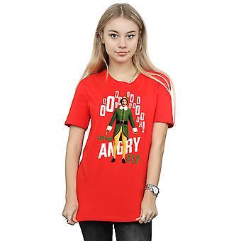 Elf Women's Angry Elf Boyfriend Fit T-Shirt