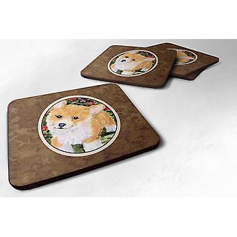 Carolines schatten SS8823FC Set van 4 Corgi schuim Coasters