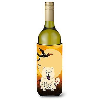 Halloween Chow Chow White Wine Bottle Beverge Insulator Hugger