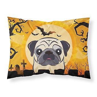 Halloween Fawn Pug Fabric Standard Pillowcase