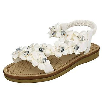 Ladies Savannah blomma Trim sandaler F00136