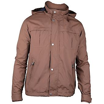 Caterpillar Mens Flux Light Hooded Water Resistant Casual Jacket Coat