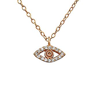 Evil Eye - 925 Sterling hopea Jewelled kaulakorut - W19857x