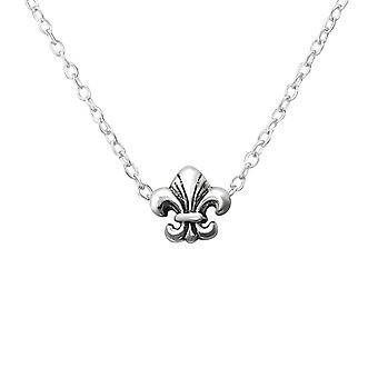 Fleur De Lis - 925 Sterling Silver Plain Necklaces - W36224x