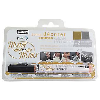 Pebeo Gedeo Mirror Effect Leaves & Glue Marker Kit