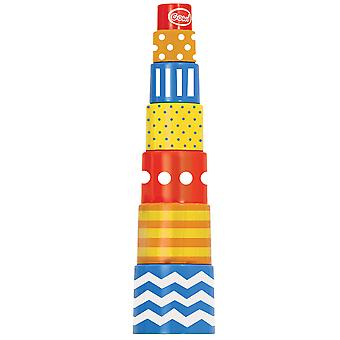 Gowi Toys Educational 7 Part Pyramid Stacker Stacking Toy