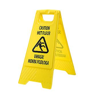 Portwest - Euro Multilingual Wet Floor Warning Sign