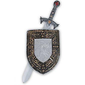 Σπαθί του ιππότη 57 εκατοστά και ο ιππότης ασπίδα μεσαιωνικό όπλο αξεσουάρ