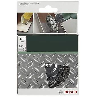 Accessori Bosch 2609256532Disc spazzola Ø 100 mm in acciaio filo gambo diametro 6 mm 1/PC