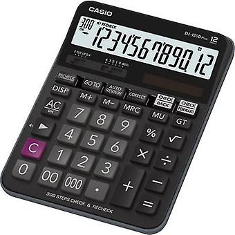 Casio DJ-120DPLUS Desk calculator Black Display (digits): 12 solar-powered, battery-powered (W x H x D) 144 x 34.6 x 192 mm