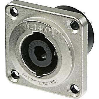Neutrik NLT4MP Audio jack ærme socket, lige ben antal stifter: 4 sølv 1 computer(e)