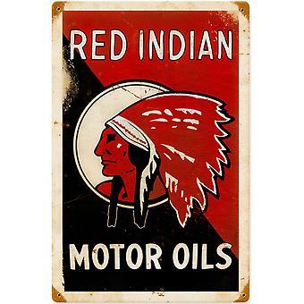 Vermelho indiano óleos Motor aço enferrujado assinar 460 Mm X 300 Mm