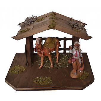 Nativity accessories cribs set shelter with camel & driver stable Manger