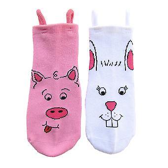Grisen & Bunny EZ SOX sokker - 2 par, 2 til 3 år
