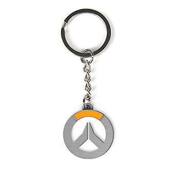 Overwatch kulcstartó logo ezüst színű, nyomott, fémből készült.