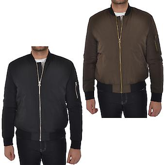Puffa Mens Padded Bomber Jacket Quilted MA1 Casual Coat
