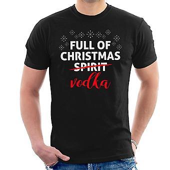 S pieno di Natale Vodka uomini t-shirt